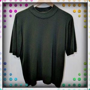 Sag Harbor Dark Green Sweater Sz 1X